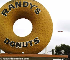 Randy's Donuts is a familiar landmark near LAX.