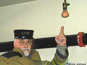 The light bulb in the Livermore Fire Department has been on for more than a century.