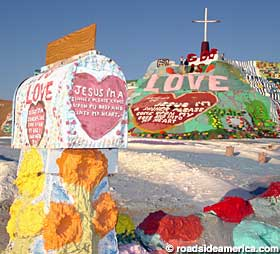 Mailbox for Salvation Mountain.