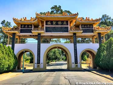 Entrance to the City of Ten Thousand Buddhas.