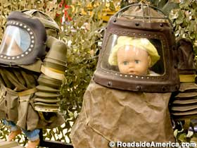 Gas masks for babies.