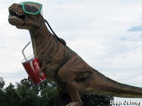 T-Rex with product placement.
