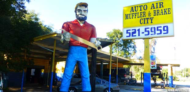 Muffler Man with wrench.