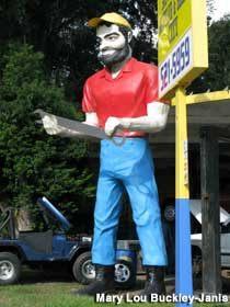 Muffler Man with a wrench.