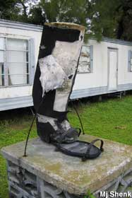 Gibsonton Fl Boot Monument For Civic Circus Giant