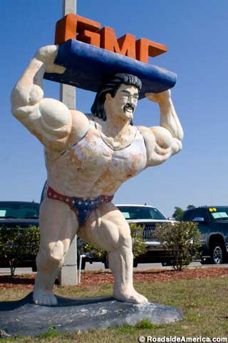 Cars For Sale Mobile Al >> GMC Strong Man Statue, Homosassa, Florida