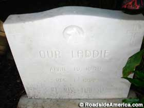 Our Laddie headstone.
