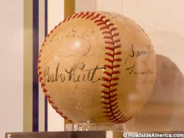 Autographed by Babe Ruth.