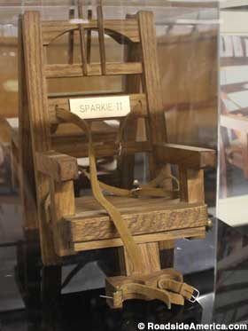 Replica electric chair.
