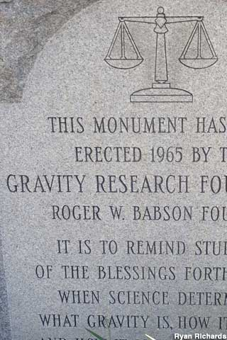 Gravity Research monument.