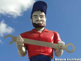 Muffler Man with giant wrench.