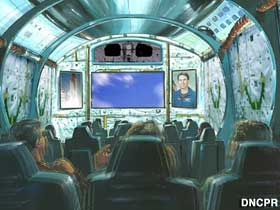 Artist concept for shuttle ride.