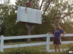 Giant mailbox.