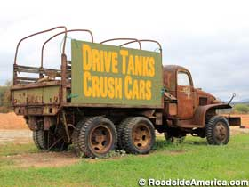 Drive Tanks Crush Cars.