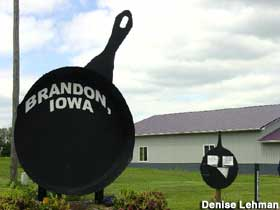 Fry Pan in Brandon, Iowa.
