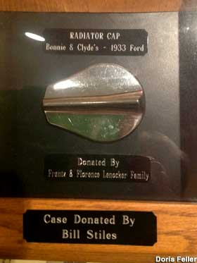 Bonnie and Clyde's 1933 Ford Radiator Cap