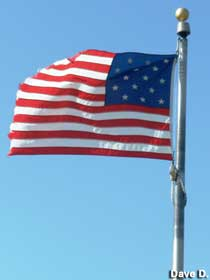Flag with 15 stars and stripes.