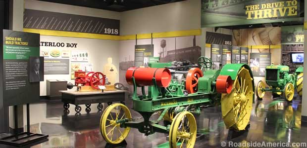 A century-old Waterloo Boy entices John Deere fans into the tractor museum.