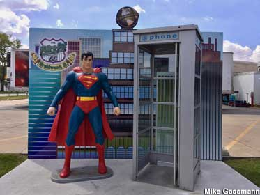 Superman and phone booth.