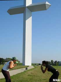 Giant cross in Effingham.