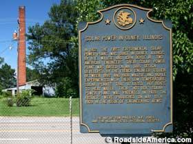 Solar Power in Olney, IL historical marker.