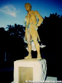 Boy scout statue at the grave of William D. Boyce.