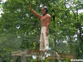Indian Brave statue.