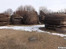 Rock City in the winter.