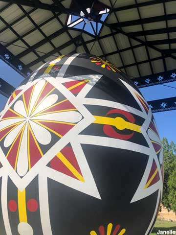 World's Largest Hand-Painted Czech Egg.