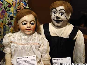 Anonyma Girl and Boy ventriloquist dummies