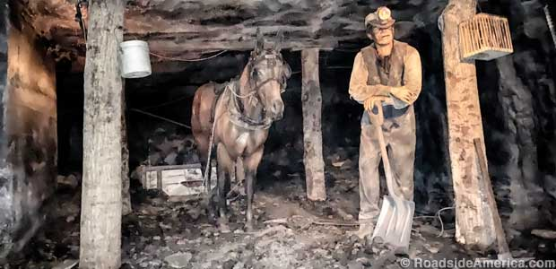Robot mule and miner Joseph Marchelli from Sicily.