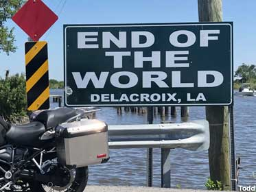 End of the World sign.