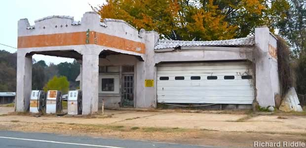 Historic Bonnie and Clyde Gas Station.