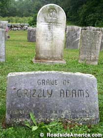 Grave of Grizzly Adams marker.