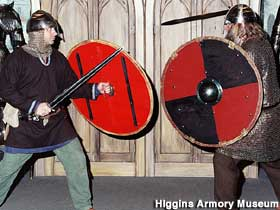 Medieval arms demonstration.