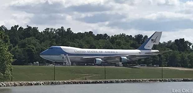 Air Force One replica.
