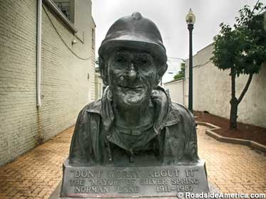 Memorial Bust To the Homeless Mayor.