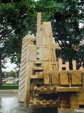 Volunteers Of America Michigan >> Kalamazoo, MI - Controversial Sculpture of Whites vs Indians (Gone)