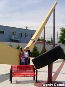 Largest Hockey Stick and Puck.