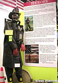 Heroes display at the First Due Fire Museum.
