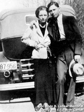 Bonnie and Clyde with their Death Hats.