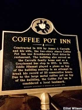 Brookhaven Ms Coffee Pot Topped Building
