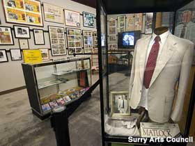 Displays at the Andy Griffith Museum.