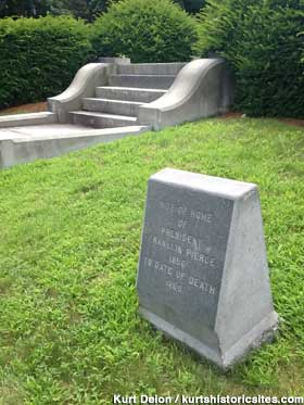 Pierce home marker and steps.