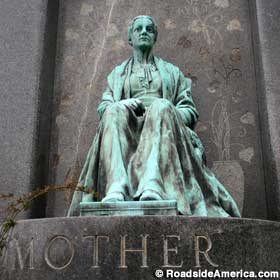Mother grave marker.