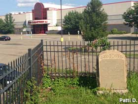Grave in a parking lot.