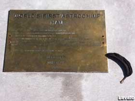Grave of first astrochimp.