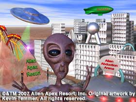 Artist's concept for Alien Apex theme Park.