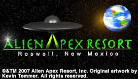Alien Apex Resort logo.