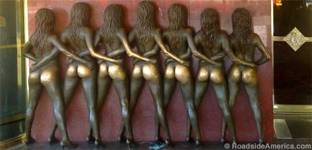 Crazy Girls sculpture.
